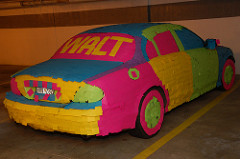 Jaguar mit Post-Its