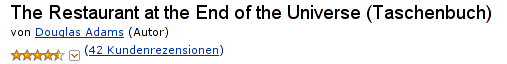 Douglas Adams mit 42 Rezensionen