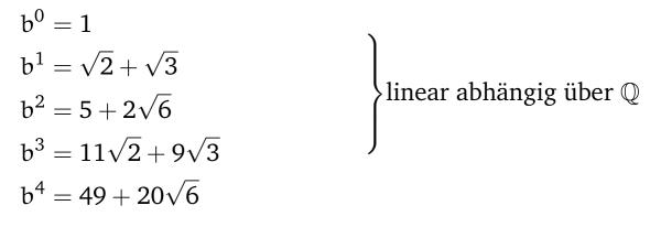 Darstellung der Formel