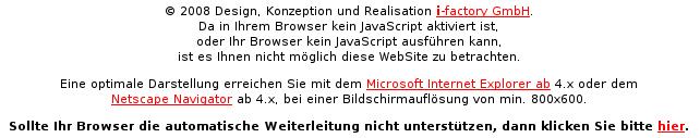 Webseite ohne JavaScript
