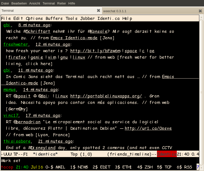 GNOME Terminal in Comic Sans