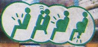 Schilder aus einer japanischen U-Bahn